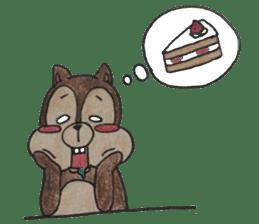 Diet of the squirrel sticker #1567193