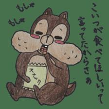 Diet of the squirrel sticker #1567194