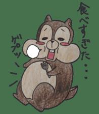 Diet of the squirrel sticker #1567199
