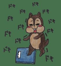 Diet of the squirrel sticker #1567201