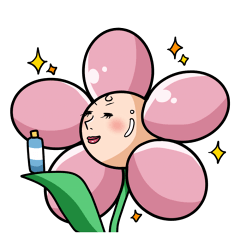 The cosmetics flower