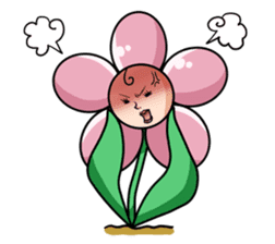The cosmetics flower sticker #1568300