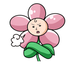 The cosmetics flower sticker #1568314