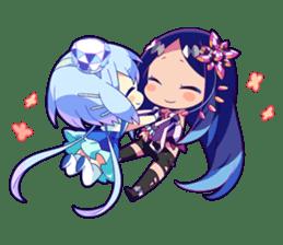 Cutie Chibi Aoki Lapis & Merli sticker #1569065