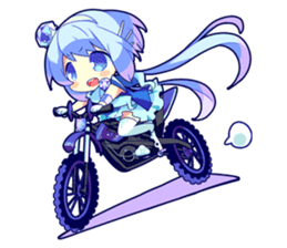 Cutie Chibi Aoki Lapis & Merli sticker #1569067