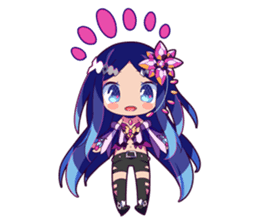 Cutie Chibi Aoki Lapis & Merli sticker #1569082