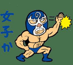 professional wrestler kurukuruman sticker #1571549