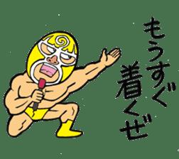professional wrestler kurukuruman sticker #1571554