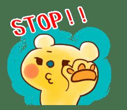 Bear behave bossy sticker #1573158