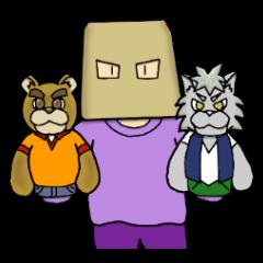 wolf and bear and sasaki-san