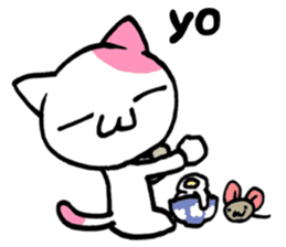 Lazy Cat Goro & Chusuke ENG ver. sticker #1574473