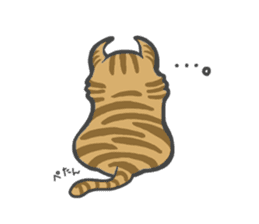 curl cat and a salaried worker sticker #1575350