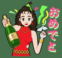 "Trendy Lady ""MIHO"" sticker #1580052"