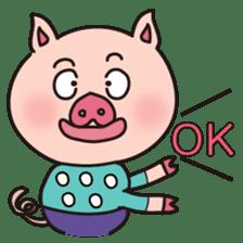 KAWAII SLOW LIFE PIG sticker #1580456