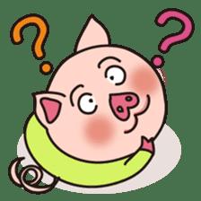 KAWAII SLOW LIFE PIG sticker #1580458