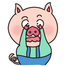 KAWAII SLOW LIFE PIG sticker #1580459