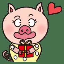 KAWAII SLOW LIFE PIG sticker #1580461