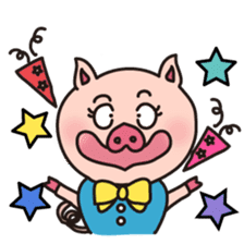 KAWAII SLOW LIFE PIG sticker #1580462