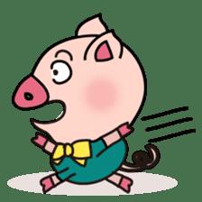 KAWAII SLOW LIFE PIG sticker #1580463