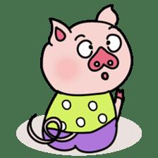 KAWAII SLOW LIFE PIG sticker #1580464