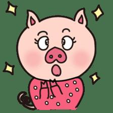 KAWAII SLOW LIFE PIG sticker #1580467