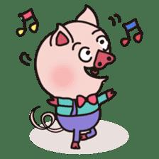 KAWAII SLOW LIFE PIG sticker #1580471