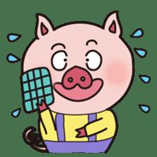 KAWAII SLOW LIFE PIG sticker #1580472