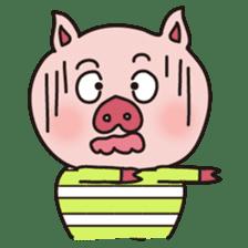 KAWAII SLOW LIFE PIG sticker #1580474