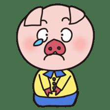 KAWAII SLOW LIFE PIG sticker #1580477