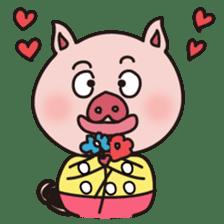 KAWAII SLOW LIFE PIG sticker #1580479