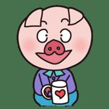 KAWAII SLOW LIFE PIG sticker #1580481