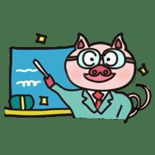 KAWAII SLOW LIFE PIG sticker #1580486