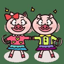 KAWAII SLOW LIFE PIG sticker #1580487