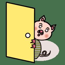 KAWAII SLOW LIFE PIG sticker #1580490
