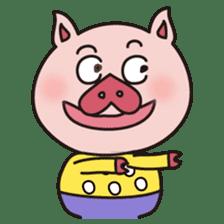 KAWAII SLOW LIFE PIG sticker #1580492