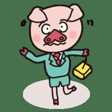 KAWAII SLOW LIFE PIG sticker #1580493