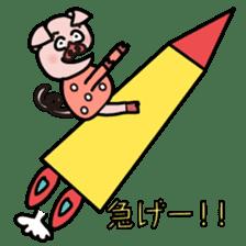 KAWAII SLOW LIFE PIG sticker #1580495