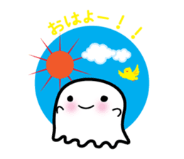 This is a pretty ghost called YOCCHI sticker #1583936