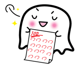 This is a pretty ghost called YOCCHI sticker #1583946