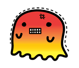 This is a pretty ghost called YOCCHI sticker #1583949