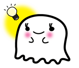 This is a pretty ghost called YOCCHI sticker #1583956