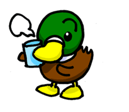 Wild duck sticker #1587297