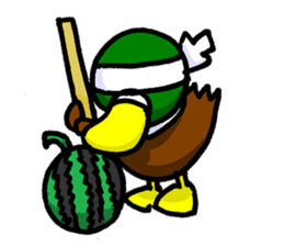 Wild duck sticker #1587316