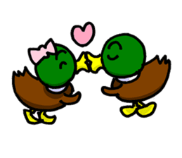 Wild duck sticker #1587331