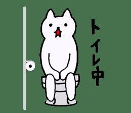Simple sticker of white cat sticker #1590072