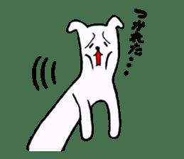 Simple sticker of white cat sticker #1590075