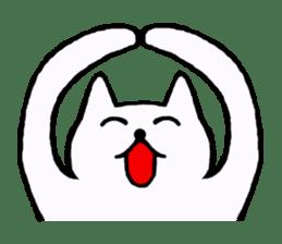 Simple sticker of white cat sticker #1590077