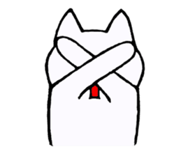 Simple sticker of white cat sticker #1590078