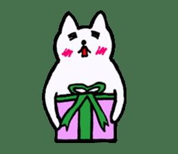 Simple sticker of white cat sticker #1590082