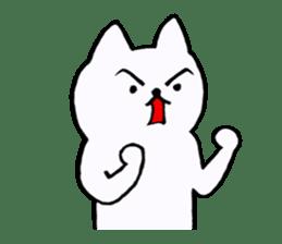 Simple sticker of white cat sticker #1590090